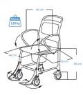 Medidas de la silla de ruedas para baño Berlín