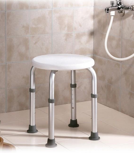 Taburete para baño y ducha para personas mayores o con discapacidad en una ducha