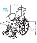 Medidas Silla de baño con ruedas para personas mayores - Genf