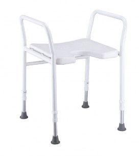 Silla de baño con asiento en herradura para personas mayores o con discapacidad