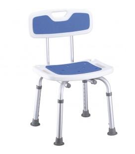 Silla de baño y ducha acolchada con respaldo para personas mayores o con discapacidad