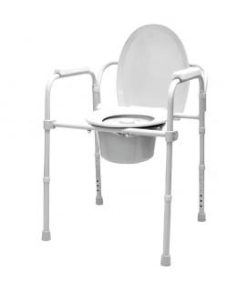 Silla WC con tapa y reposabrazos