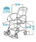 Medida de la silla de ruedas con inodoro para personsas mayores o con discapacidad - Bonn