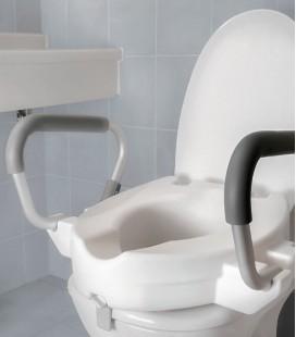 Alza WC con reposabrazos abatibles para personas mayores o con discapacidad