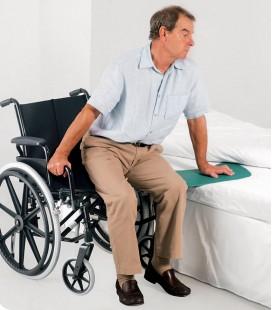 Tabla de transferencia curva, para facilitar el traslado de la silla a la cama, para personas en silla de ruedas