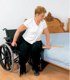 Tabla de transferencia de madera para facilitar el paso de la silla a la cama, para personas en silla de ruedas