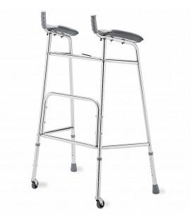 Andador con soporte de antebrazo de 2 ruedas, para personas mayores o con discapacidad