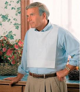 Baberos de tela sin tejer para personas mayores o con discapacidad