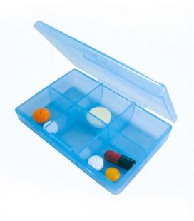 Pastillero de bolsillo con varios compartimentos