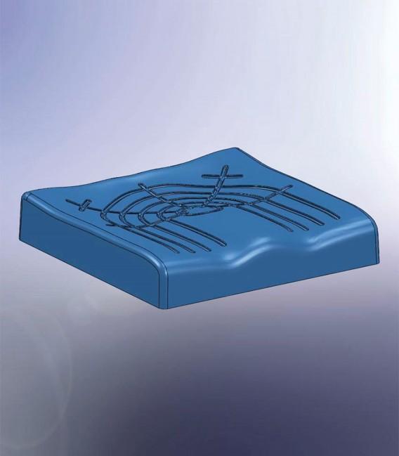 Cojín antiescaras visco elástico y anatómico para personas mayores o con discapacidad