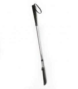 Calzador cromado largo, económico, para ayudar a calzarse a las personas mayores o con discapacidad que no pueden agacharse