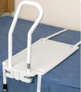 Asidero para cama adaptable a distintos somieres. Para ayudar a incorporarse en la cama a personas mayores o con discapacidad