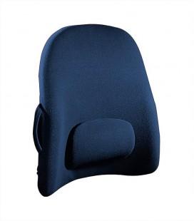 Respaldo con almohadilla lumbar para proteger la espalda. Color azul
