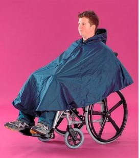 Poncho para silla de ruedas, para proteger de la lluvia