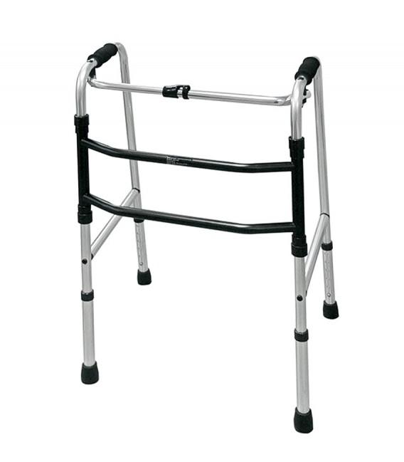 Andador de aluminio sin ruedas para proporcionar estabilidad al andar a las personas mayores o con discapacidad