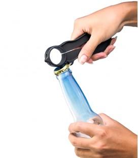 Abre botellas y botes para personas mayores y con discapacidad - Ejemplo de uso en botella de chapa