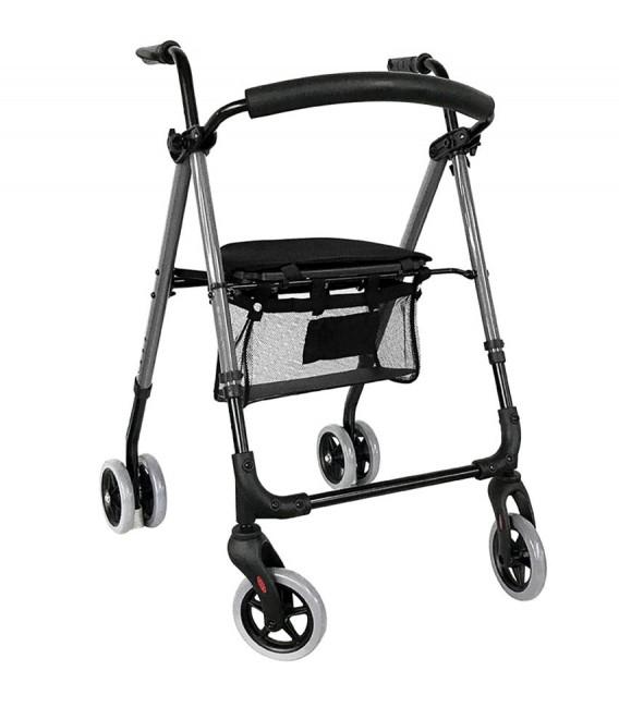 Andador rollator premium con freno push, para ayudar a caminar a las personas mayores - andador abierto
