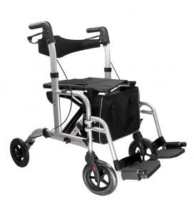 Andador rollator lux 2 en 1, andador y silla de ruedas.