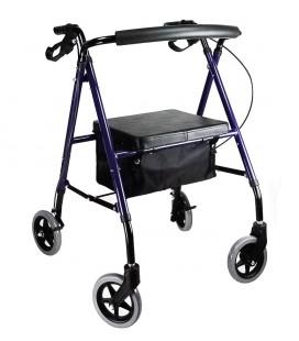 Andador Rollator Mini con frenos, asiento y cuatro ruedasw, para exterior, para ayudar a caminar a las personas mayores