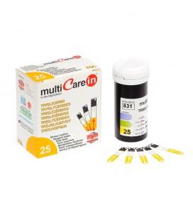 25 Tiras reactivas para medir los triglicéridos en sangre - Multicare In