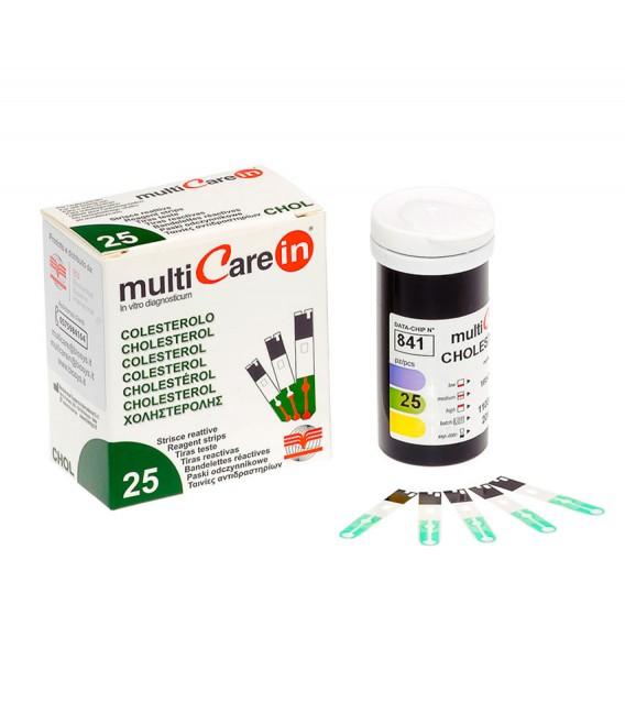 25 Tiras reactivas para medir el colesterol en sangre - Multicare In