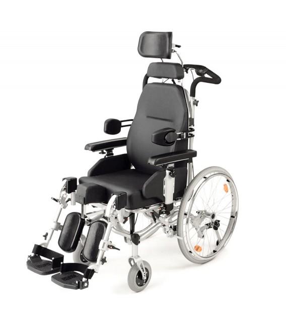 Silla de ruedas reclinable Modelo Serena - Con ruedas grandes
