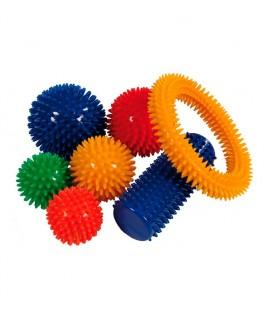 Balones para masajes de distintos tamaños y colores