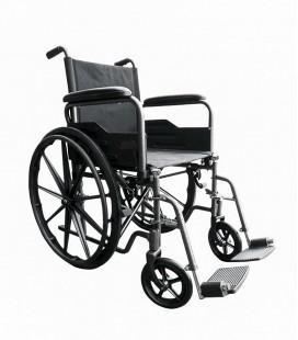 Silla de ruedas de acero de rueda grande