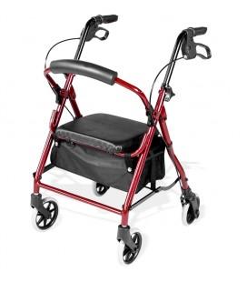 Andador Rolator Low para personas de estatura baja, con cesta portaobjetos y asiento acolchado