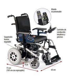 Silla de ruedas eléctrica robusta de tracción trasera
