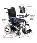 Silla de ruedas eléctrica robusta de tracción trasera, explicación de los elementos de la silla