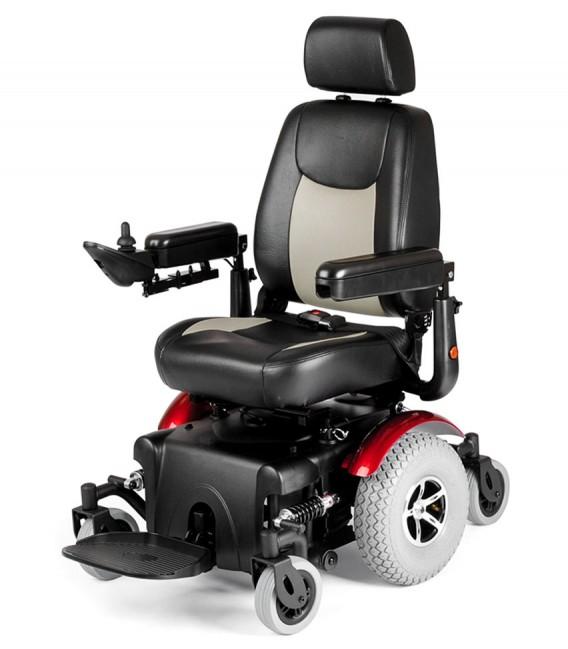 Silla de ruedas eléctrica robusta con tracción central