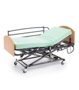 cama elevable GERIALIFT + barandilla abatible + cabecero melamina + colchón visco Eco Pur