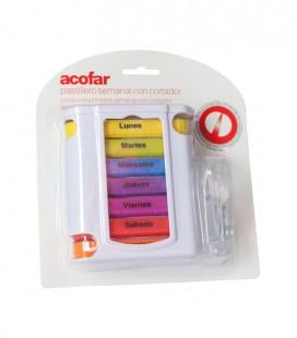 ACOFAR PASTILLERO CON CORTADOR 7 compartimentos - caja frontal