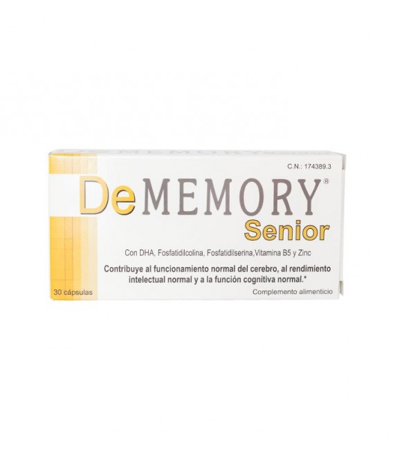 DEMEMORY SENIOR Complemento alimenticio 30 CAPS - caja frontal