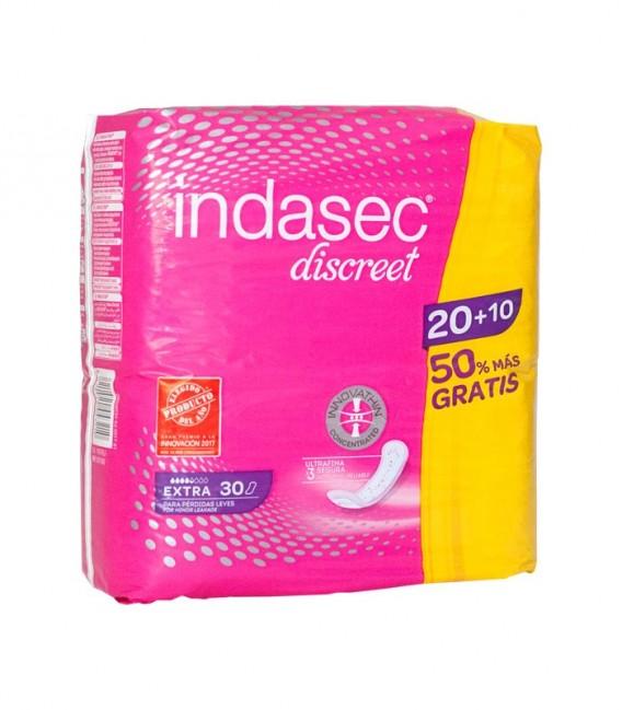 INDASEC EXTRA Compresa ultrafina 20+10 PACK - envase frontal