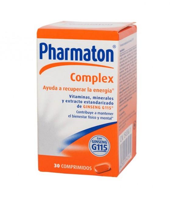 PHARMATON COMPLEX 30 COMP Comprimidos con ginseng - caja frontal