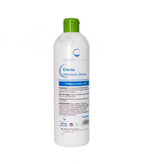 RF CREMA HIDRAT DERMO Protege la piel 750 ML - modo de empleo e ingredientes -