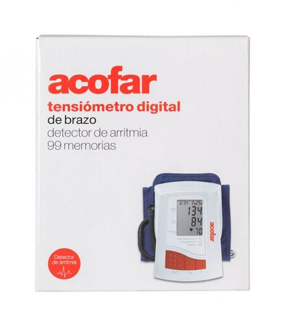 TENSIOMETRO ACOFAR BRAZO DETECTOR ARRITMIAS Digital y preciso - caja frontal