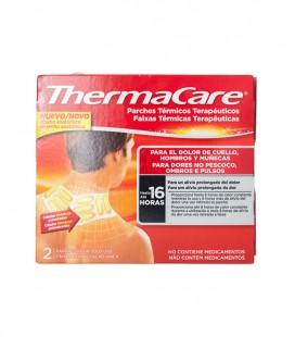 THERMACARE PARCHE CALOR Térmico terapéutico CUELLO HOMBRO 2 UDS - caja frontal
