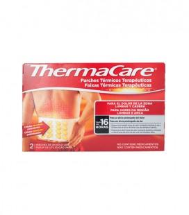 THERMACARE PARCHE CALOR Térmico terapéutico LUMBAR CADERA 2 UD - caja frontal