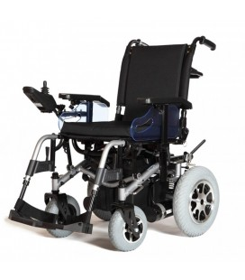 Silla de ruedas eléctrica robusta de tracción trasera con Luces