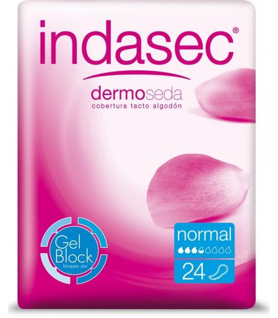 INDASEC NORMAL ANATOMICO Compresa para incontinencia 24 UDS - envase frontal