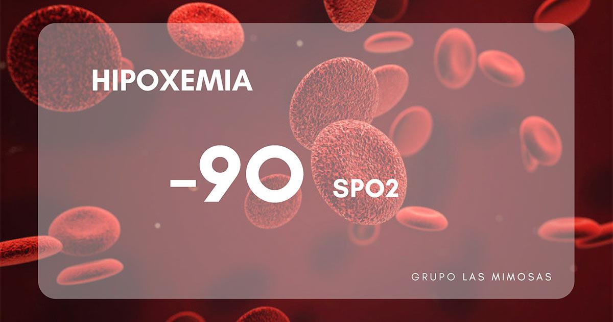 nivel de saturación de oxígeno bajo. hipoxemia