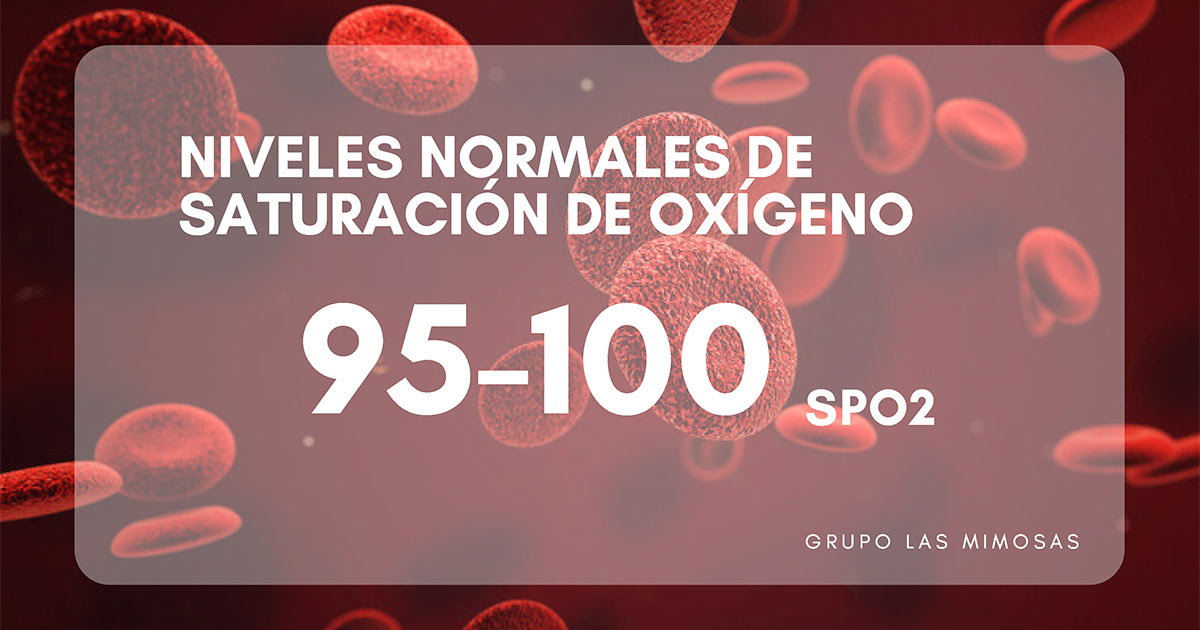niveles normales de saturación de oxígeno en sangre