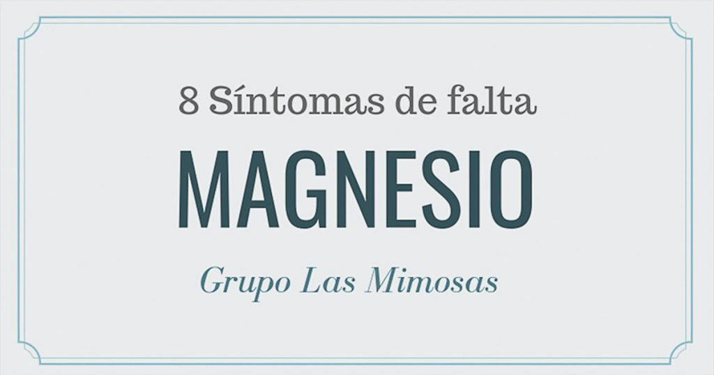 8 síntomas de falta de magnesio