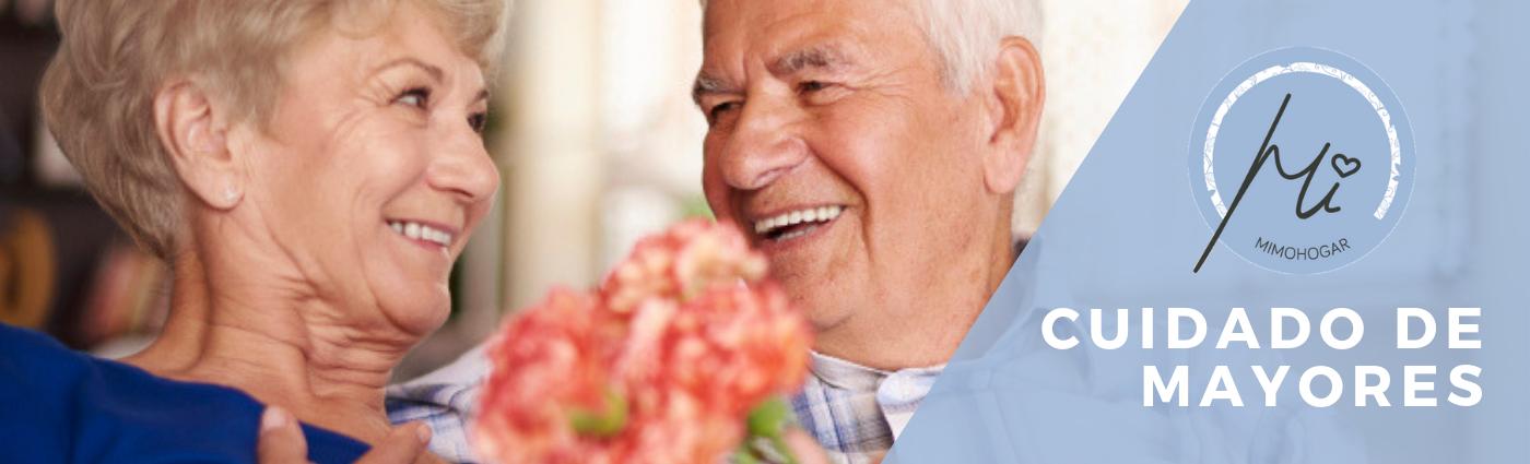 cuidado de ancianos a domicilio en zaragoza. banner mimohogar