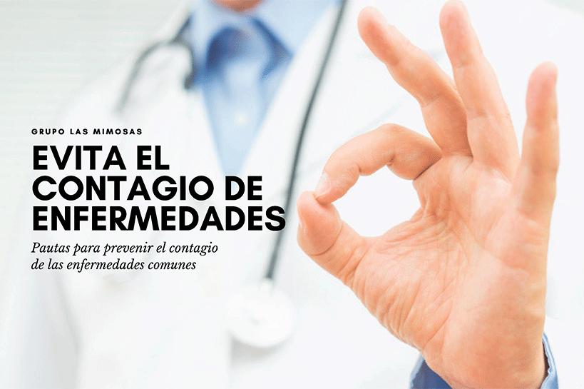 evita el contagia de enfermedades medico haciendo signo de ok