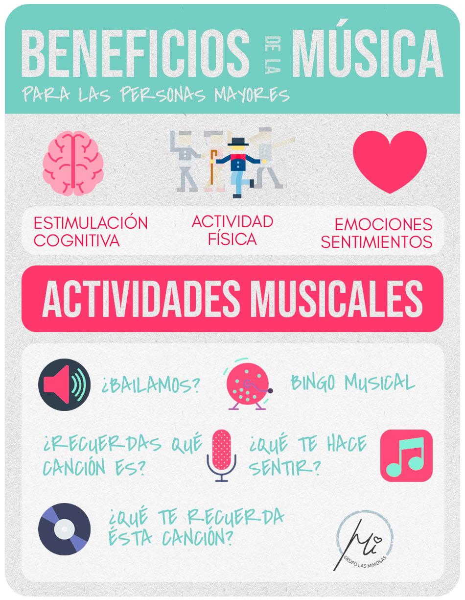 Beneficios de la música y actividades musicales para personas mayores